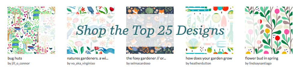 Shop the top 25 Gardening designs | Spoonflower Blog
