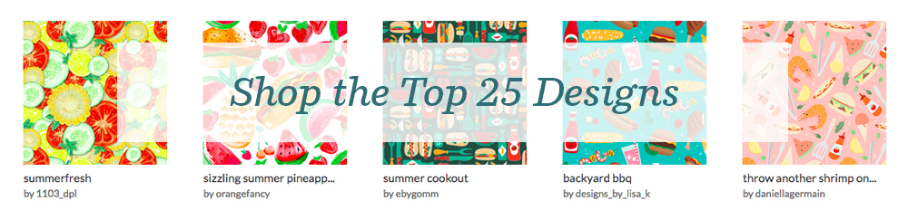 Shop the top 25 Summer Cookout designs | Spoonflower Blog