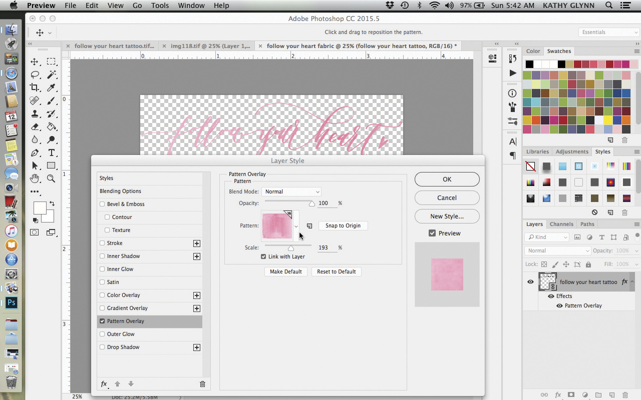 Transform Your Calligraphy from Font to Fabric: Part 2 | Spoonflower Blog