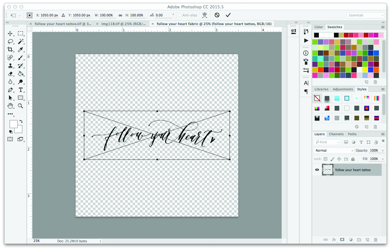Turn Your Hand Lettering into a Fabric Design: Backgrounds and Repeats | Spoonflower Blog