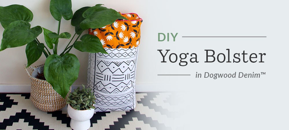 How to Create a Colorful DIY Yoga Bolster | Spoonflower Blog