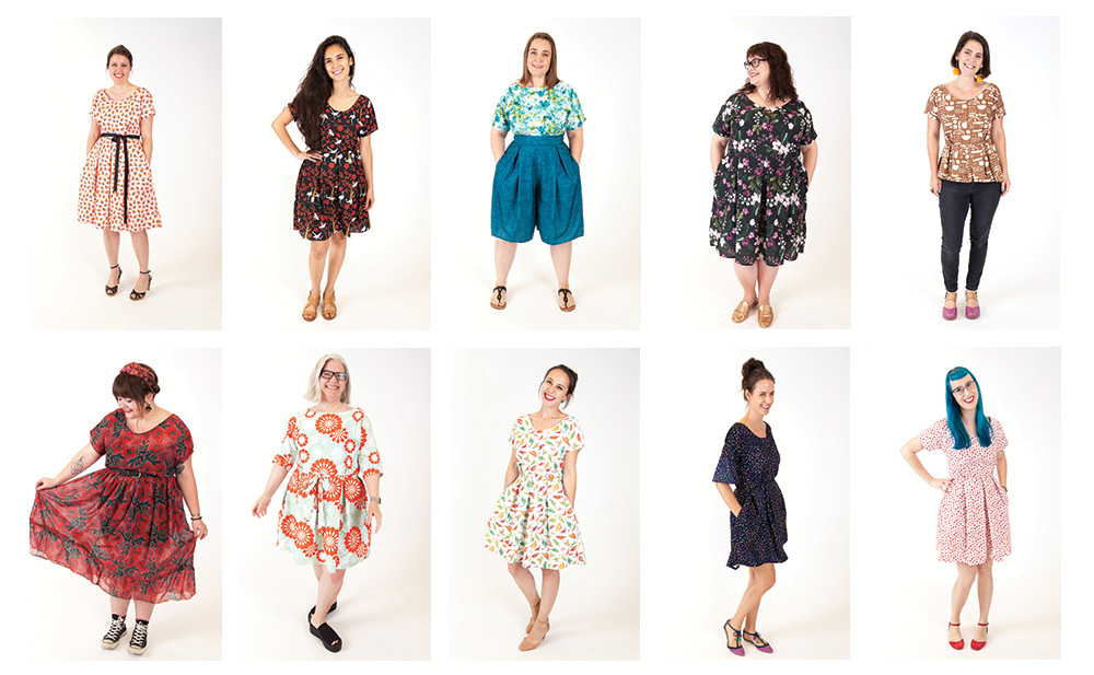 10 Ways to Customize the Zeena Dress for Me Made May   Spoonflower Blog