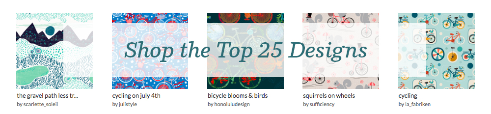 Shop the top 25 Cycling designs | Spoonflower Blog