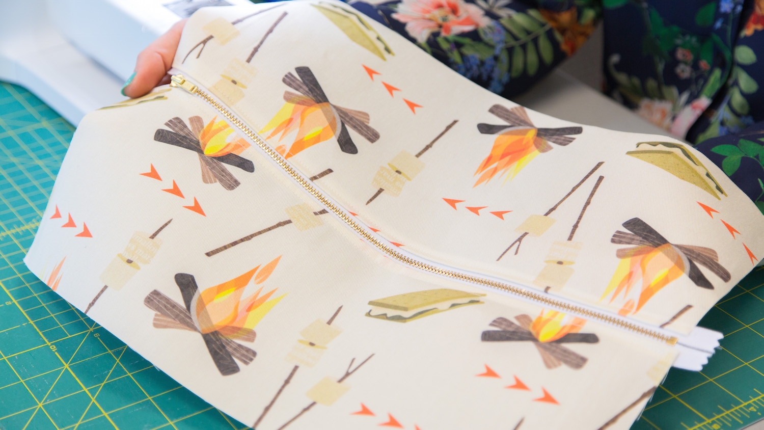 Campfire Craft: Laminated Zipper Pouch for Roasting Sticks | Spoonflower Blog