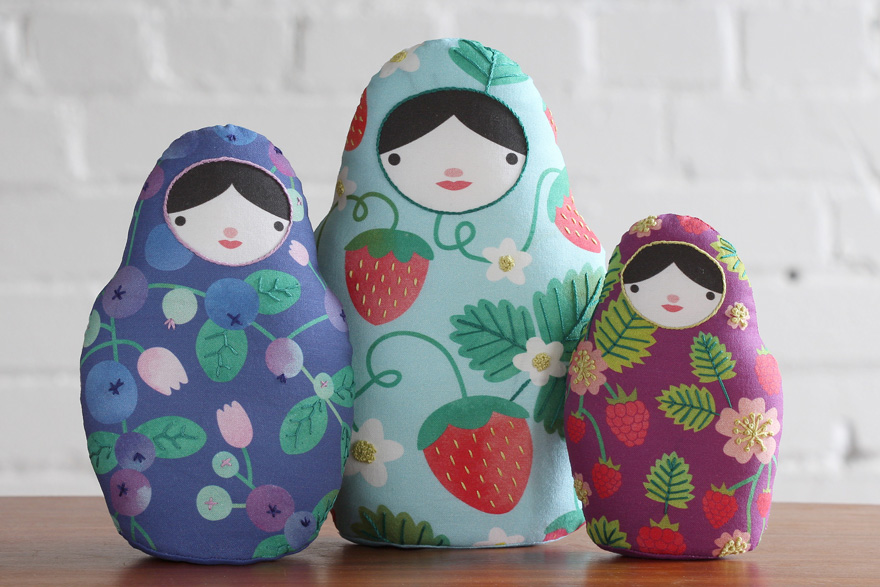 DIY Matryoshka Nesting Dolls with kirikipress | Spoonflower Blog