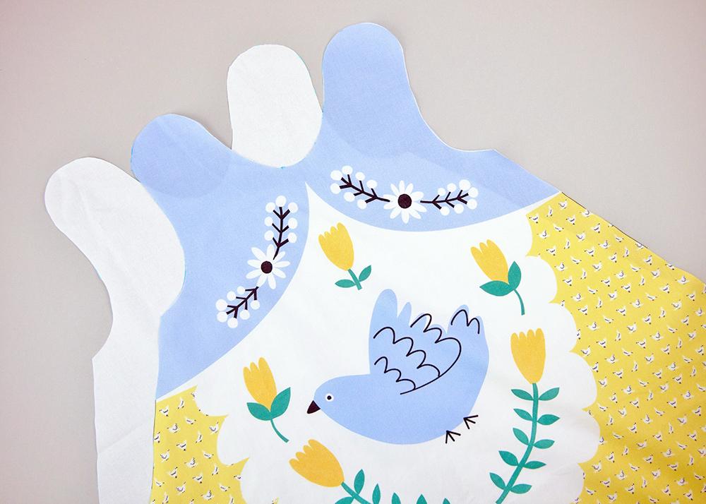 Cut-and-Sew Faschingskostüm für Kinder: eine Matrjoschka
