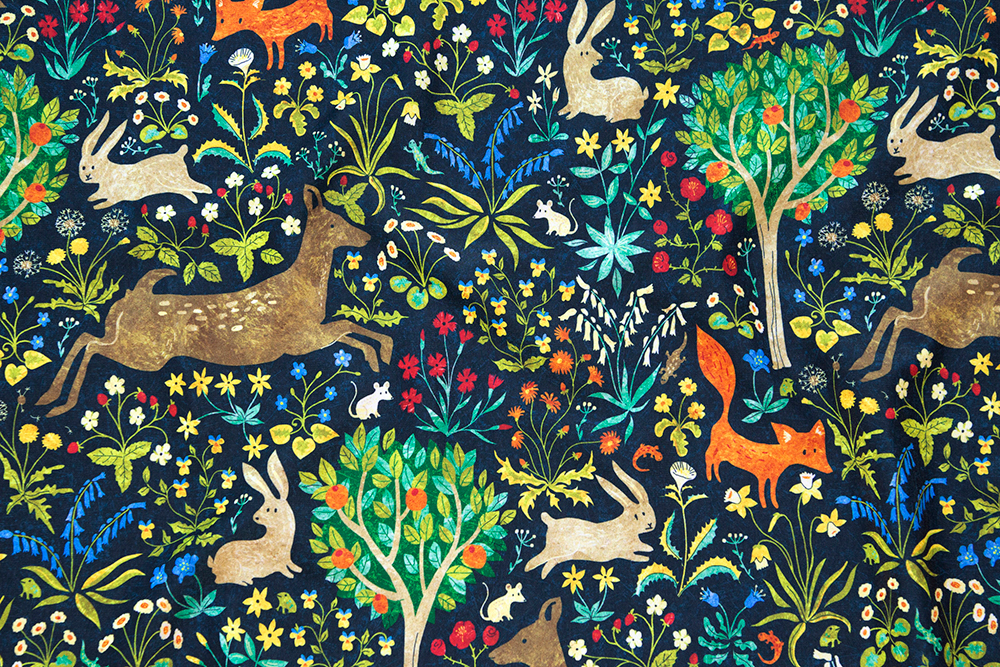 Grand prize winner in the Animals by Land design challenge: arazzomedievale by gaiamarfurt | Spoonflower Blog