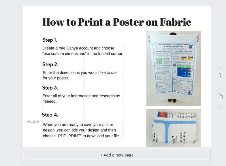 How To Design A Fabric Research Poster With Canva | Spoonflower Blog
