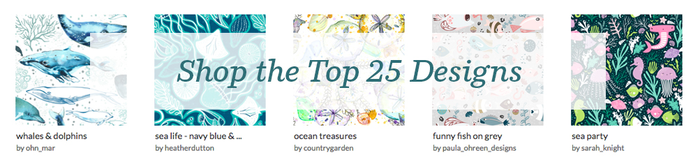 Shop the top 25 Animals of the Ocean designs | Spoonflower Blog