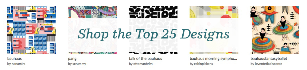 Shop the top 25 Bauhaus design challenge collection | Spoonflower Blog