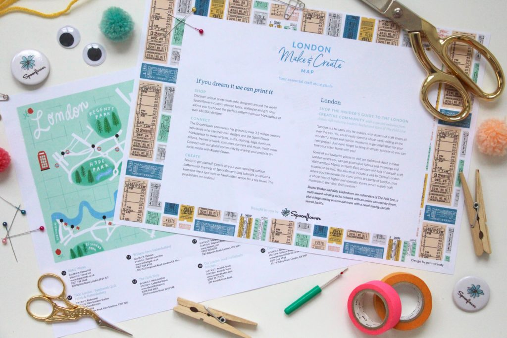 London Craft Map | Spoonflower Blog