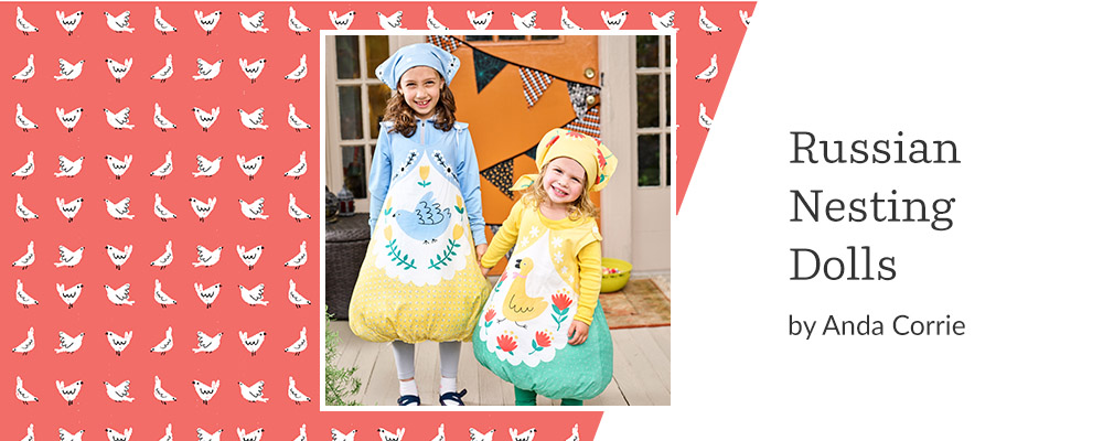 5 DIY Kid's Costumes to Make This Halloween - Russian Nesting Dolls | Spoonflower Blog