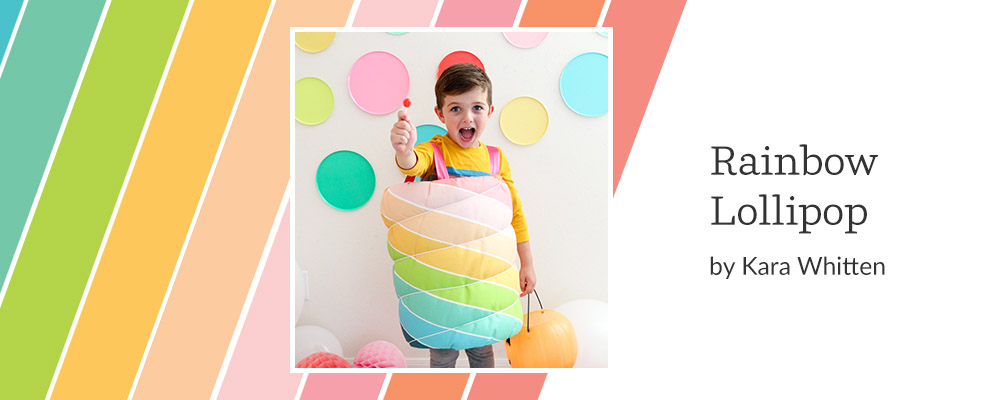 5 DIY Kid's Costumes to Make This Halloween - Rainbow Lollipop | Spoonflower Blog