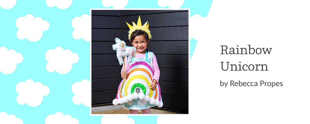 5 DIY Kid's Costumes to Make This Halloween - Rainbow Unicorn | Spoonflower Blog