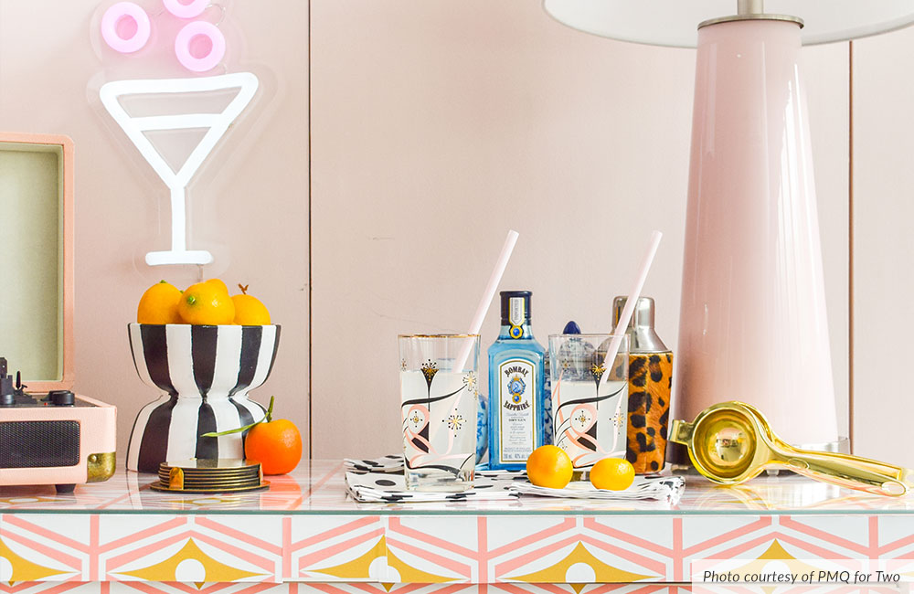 Announcing September's Design Challenge Themes - Retro Bar Cart Tea Towel | Spoonflower Blog