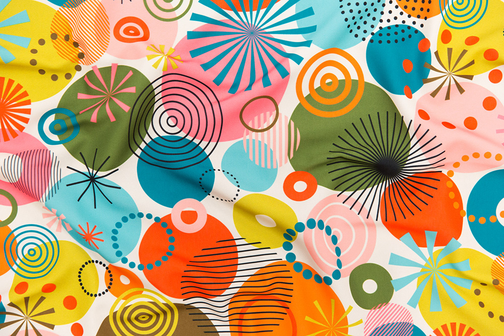 Surprise Party by katerhees is the Circles Are the New Triangles design challenge winner! | Spoonflower Blog