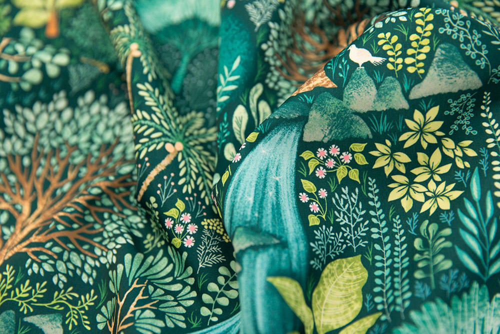 Emerald Eden by catalinakim is this week's Emerald Forest Design Challenge winner! | Spoonflower Blog