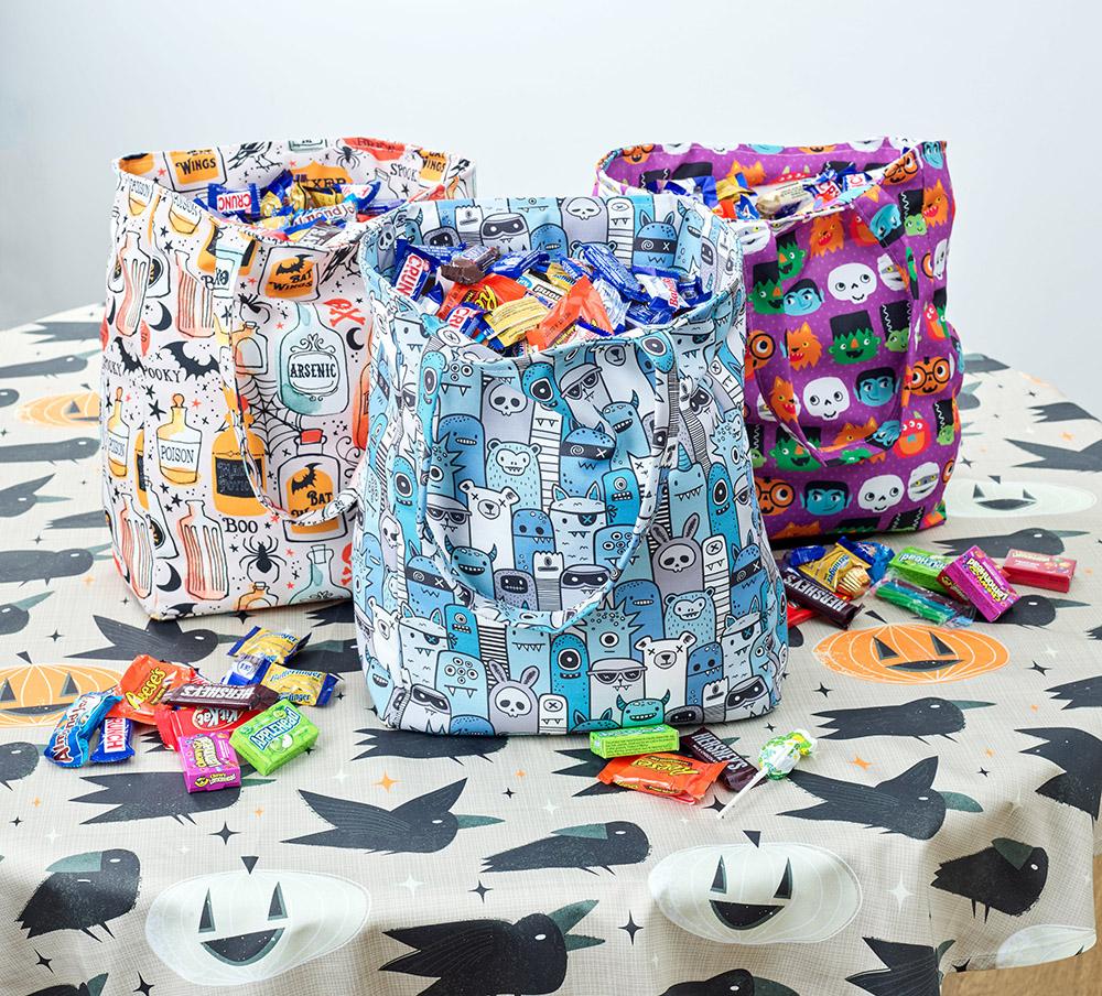 handmade halloween: diy trick-or-treat tote bags   spoonflower blog