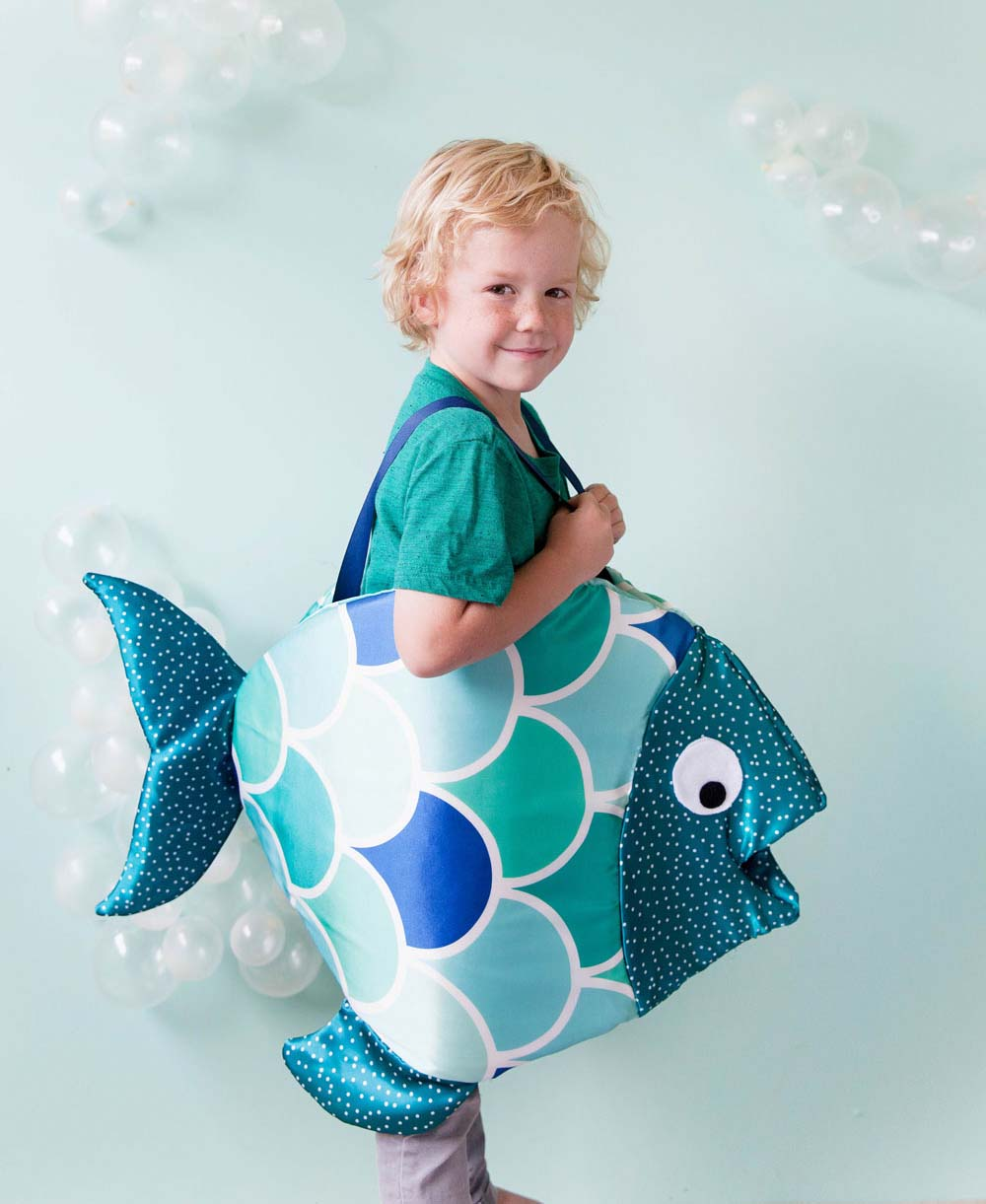 handmade halloween: a diy fish costume that won't flop | free