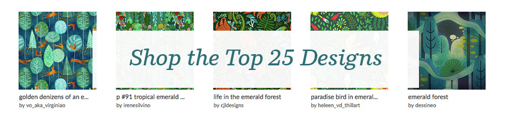 Shop the top 25 Emerald Forest design challenge winners | Spoonflower Blog