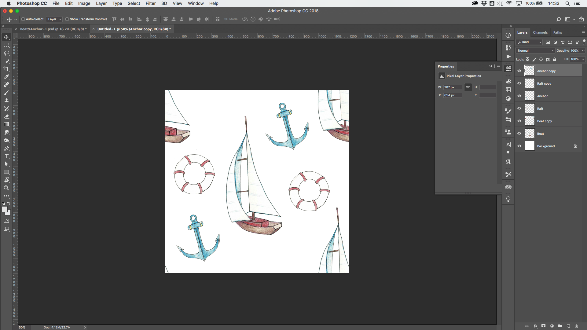 How to Create a Seamless Repeating Pattern in Photoshop | Spoonflower Blog