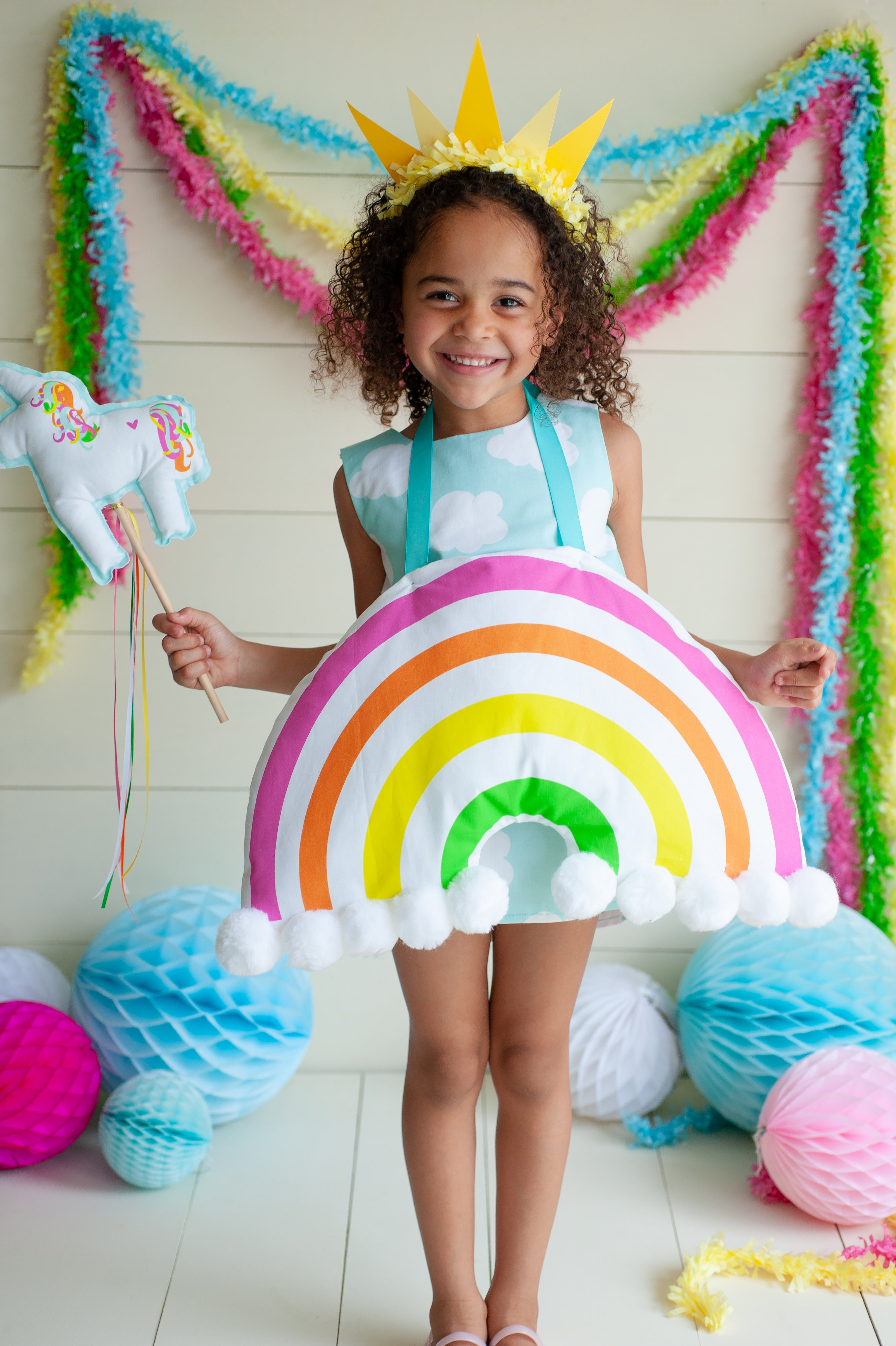 Handmade Halloween: DIY Kid's Rainbow Costume | Spoonflower Blog