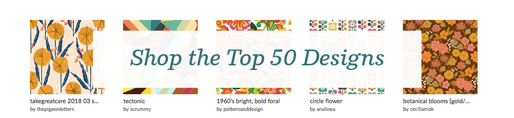 Shop the top 50 1960s design challenge entries | Spoonflower Blog
