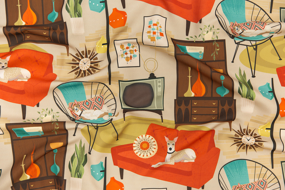 Rec Room Madness by michaelzindell is the 1960s Design Challenge winner! | Spoonflower Blog