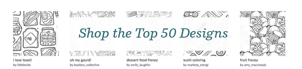 Shop the top 50 Food Frenzy Lake Coloring Book Design | Spoonflower Blog