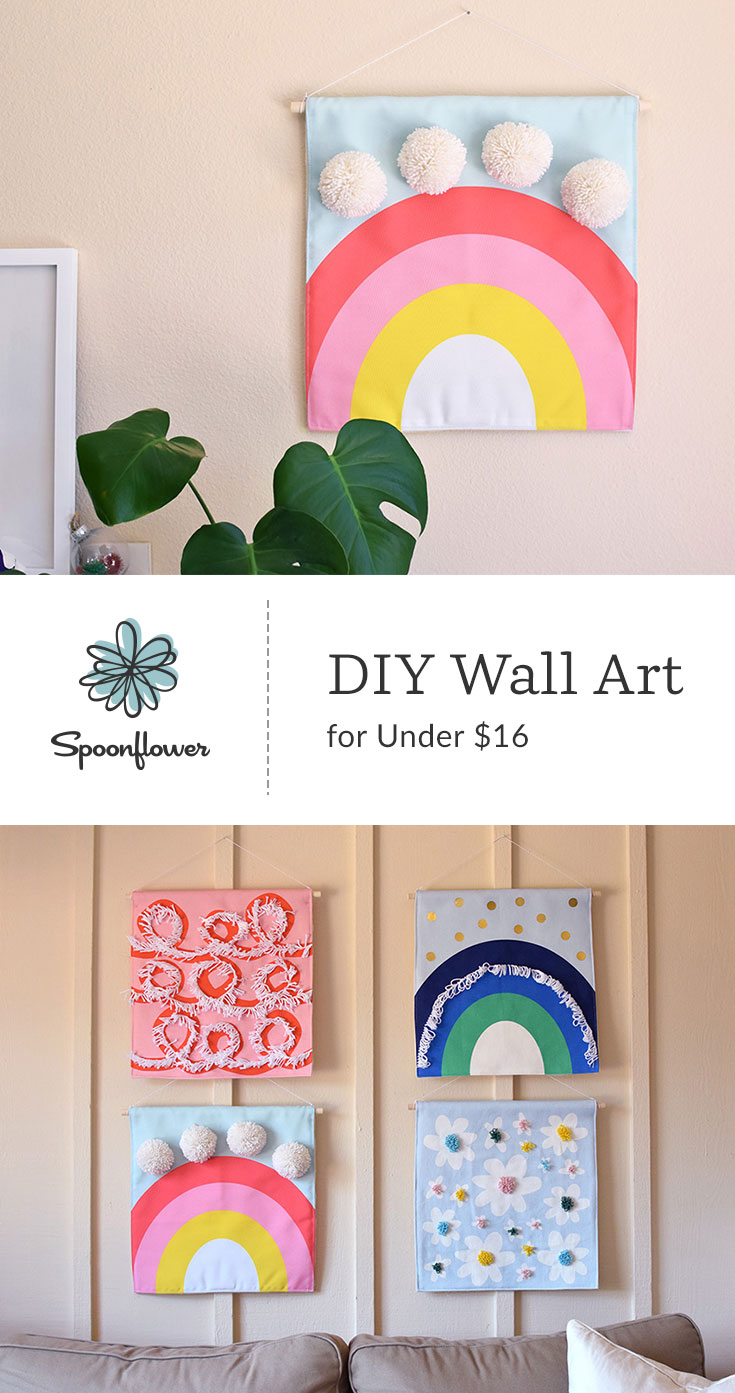 DIY This Colorful Wall Art for Under $16 | Spoonflower Blog