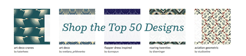 Shop the top 50 1920s design challenge entries! | Spoonflower Blog