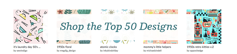 Shop the top 50 1950s design challenge entries! | Spoonflower Blog