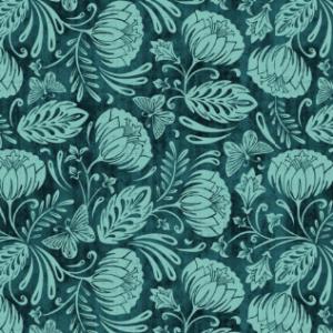 arabella damask aqua by heatherdutton | Spoonflower Blog