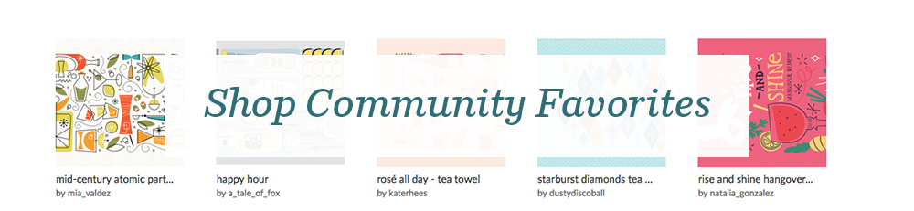 Shop the community favorites from the Retro Bar Cart Tea Towel Design Challenge | Spoonflower Blog