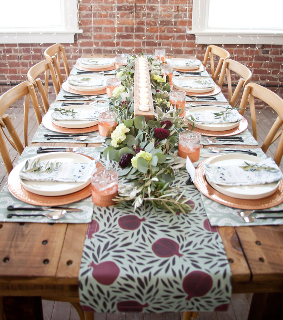 How to Throw an Elegant Winter Dinner Party | Spoonflower Blog