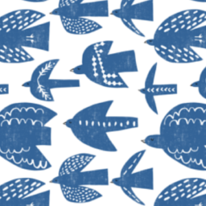 free birds blue by pattyryboltdesigns | Spoonflower Blog
