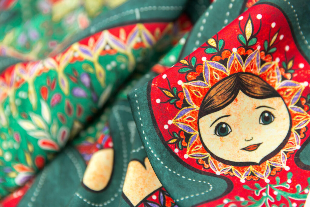 Christmas Doll by gaiamarfurt is the Cut-and-Sew Design Challenge winner! | Spoonflower Blog