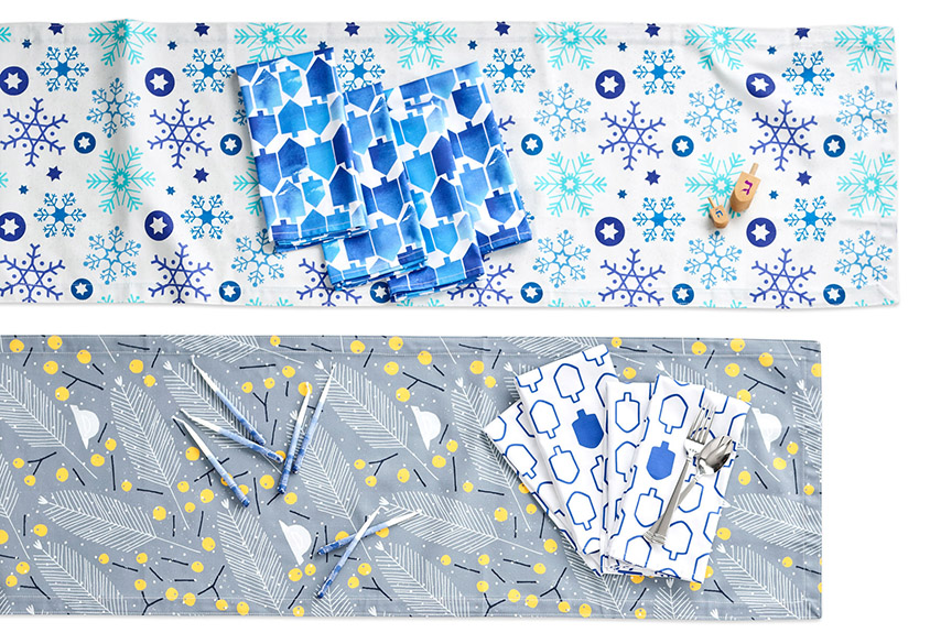 Decorate your table with Hanuhkah design from Spoonflower | Spoonflower Blog