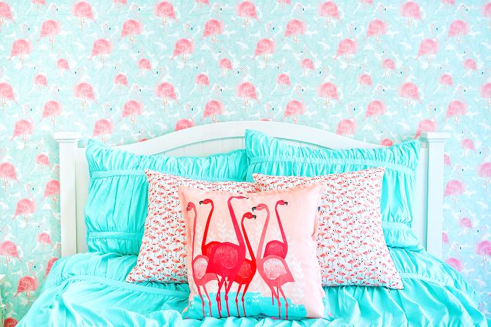 10 DIY-Tapeten Projekte für deine Wohnung - Flamingo Tapete
