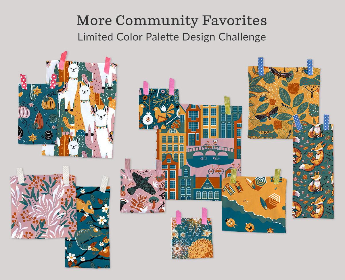 Limited Color Palette Design Challenge winners | Spoonflower Blog