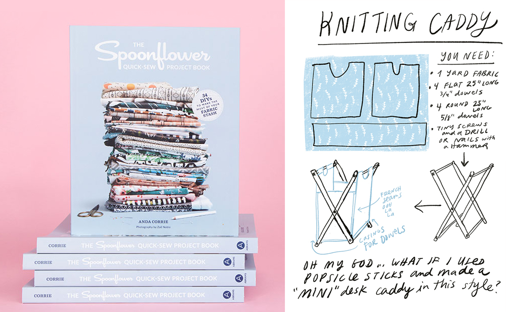 The Quick-Sew Project Book by Anda Corrie | Spoonflower Blog