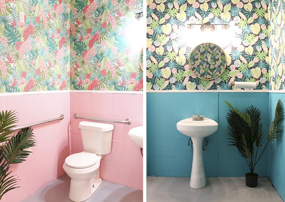 10 DIY-Tapeten Projekte für deine Wohnung - Badezimmer Tapete