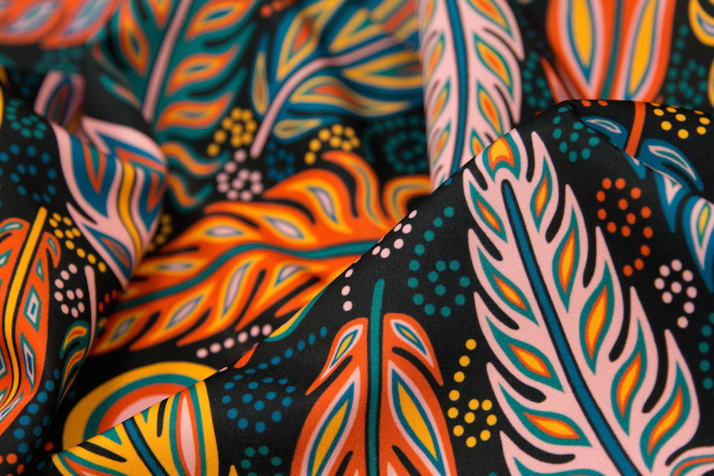 Fabulous Feathers by willowbirdstudio is the Limited Color Palette Design Challenge winner! | Spoonflower Blog