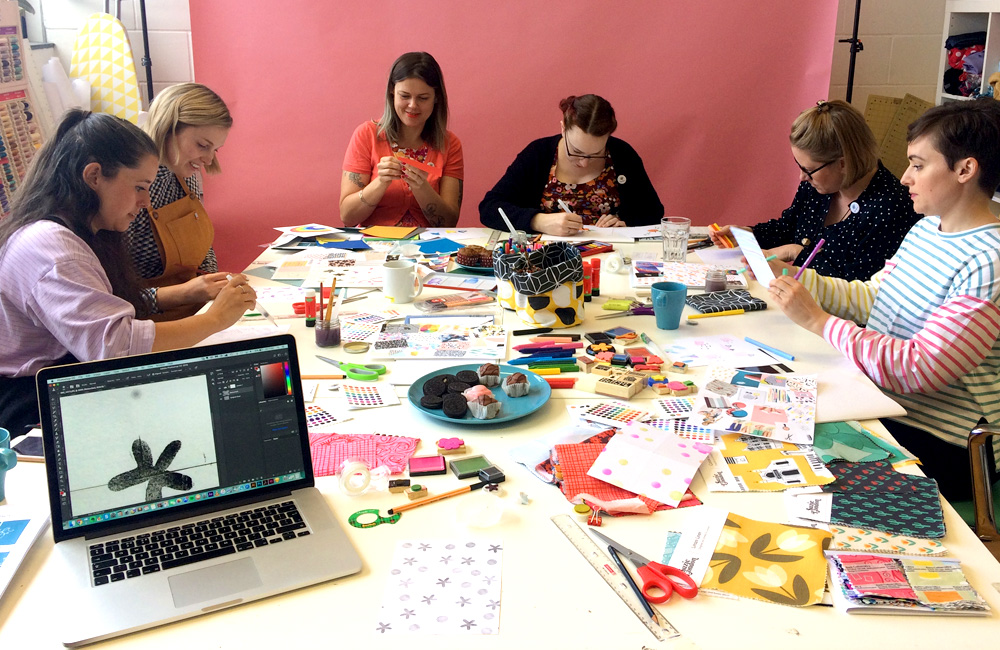 Behind-The-Scences of a Colorful Design Workshop with Suzie London | Spoonflower Blog