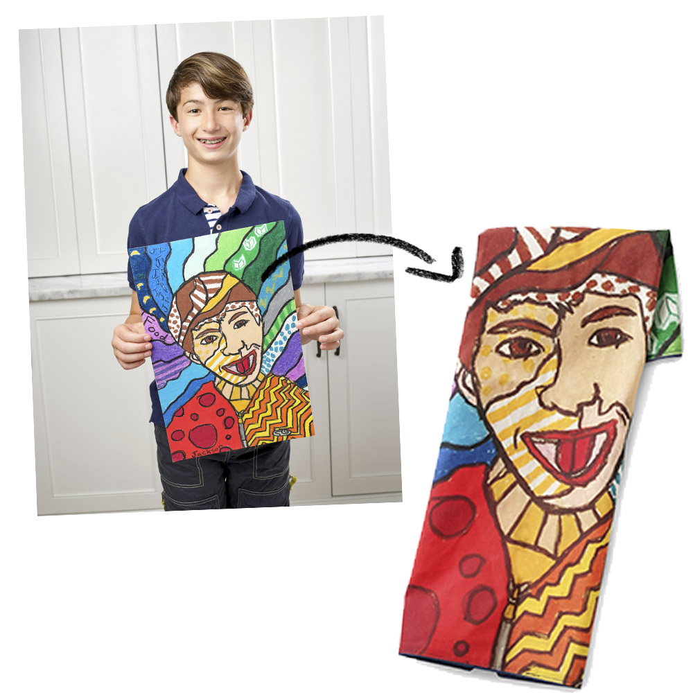 10 Custom Gift Ideas to Make With Kid's Artwork | Spoonflower Blog