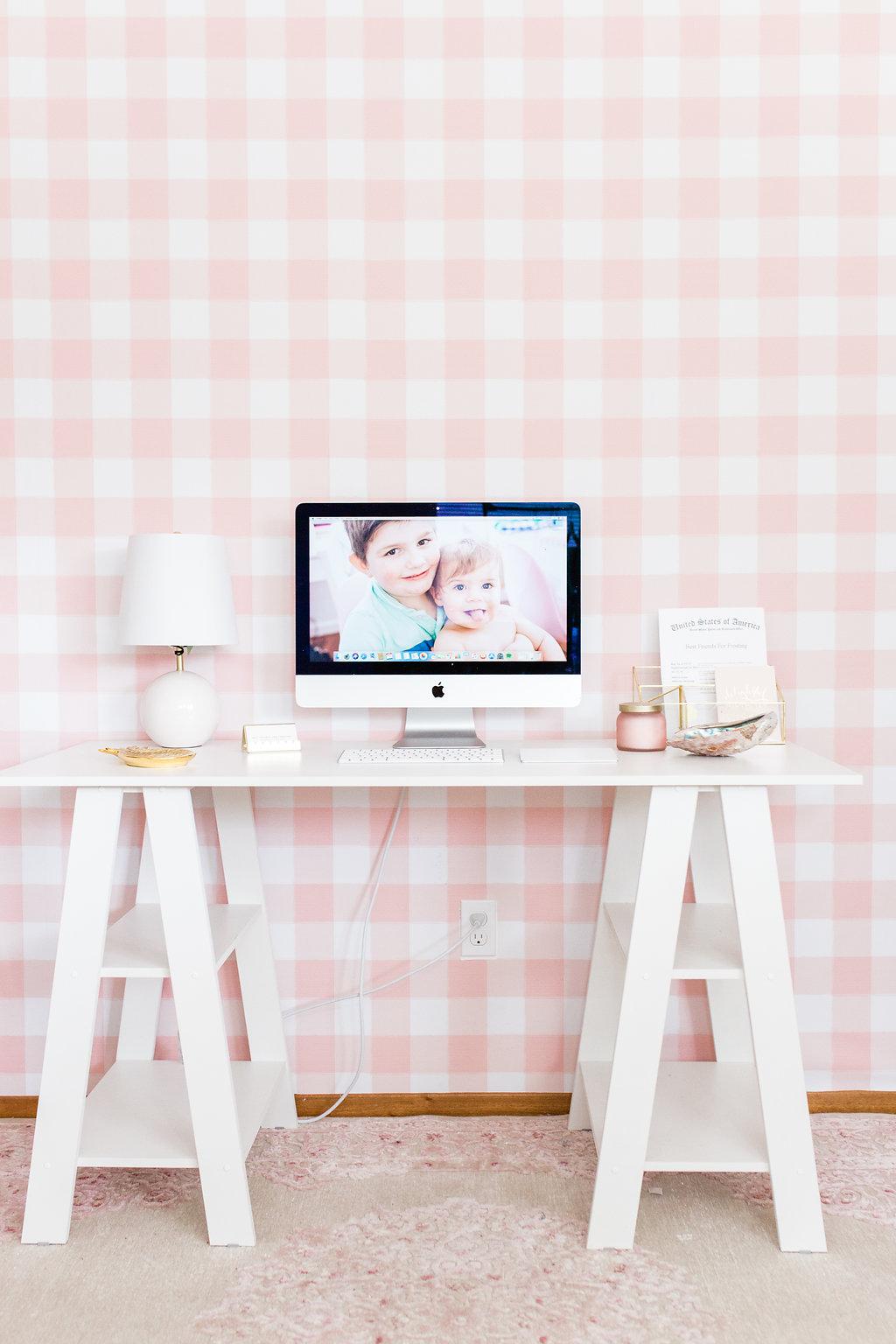 10 DIY-Tapeten Projekte für deine Wohnung - Arbeitsplatz