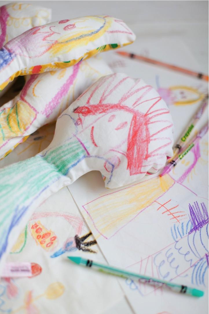Plüschtier aus Kinderzeichnung