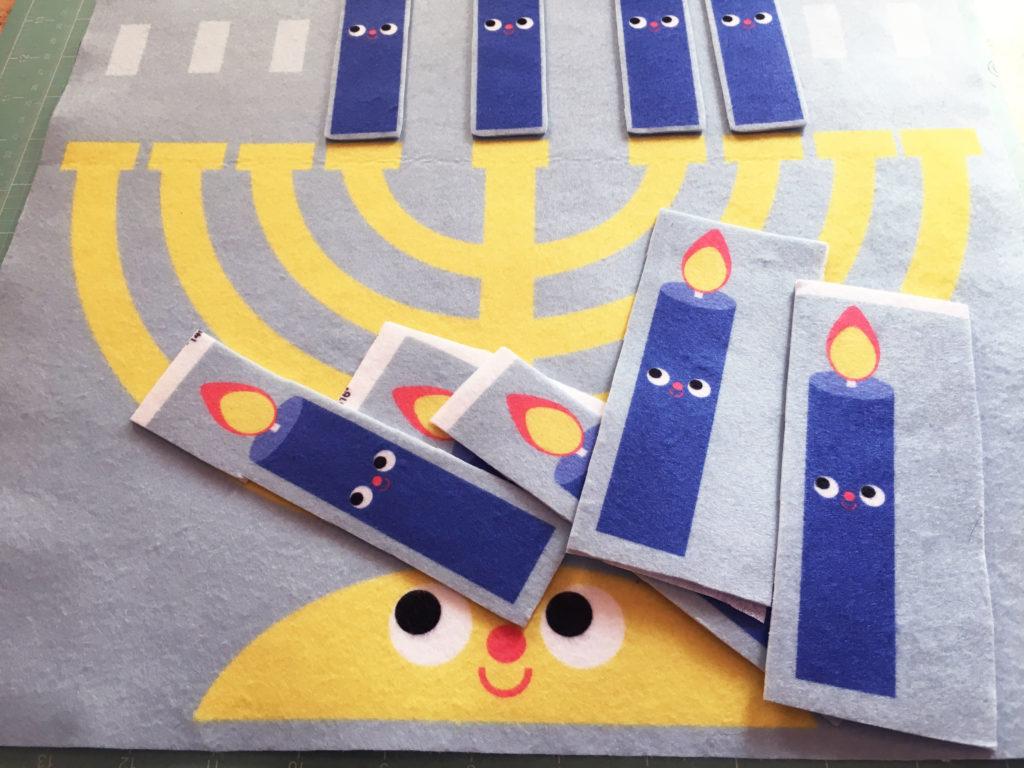 DIY Fleece Menorah Wall Hanging for Hanukkah | Spoonflower Blog