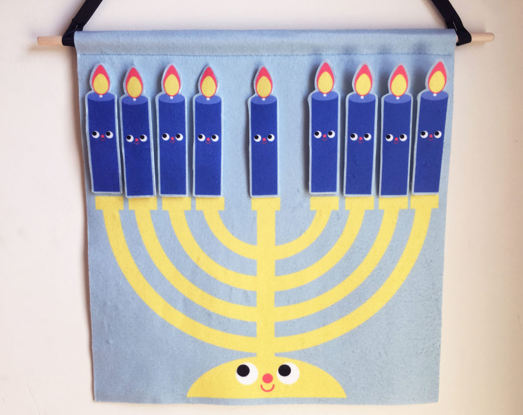 DIY Fleece Menorah Wall Hanging for Hanukkah | Spoonflower Blog