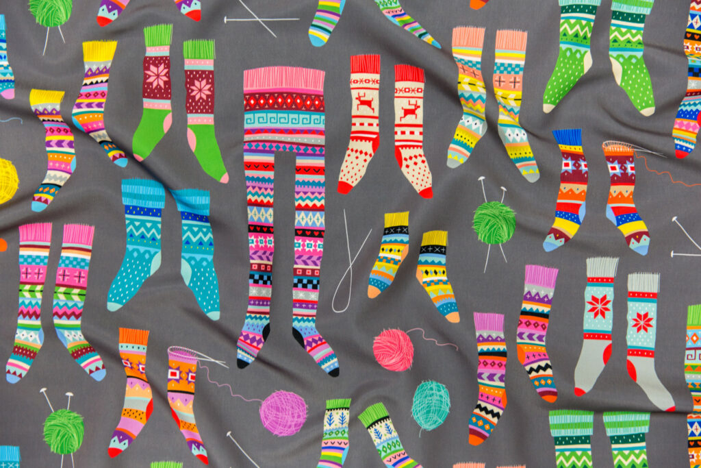Fancy Fair Isle Feet by cerigwen is the Fair Isle Design Challenge Winner! | Spoonflower Blog